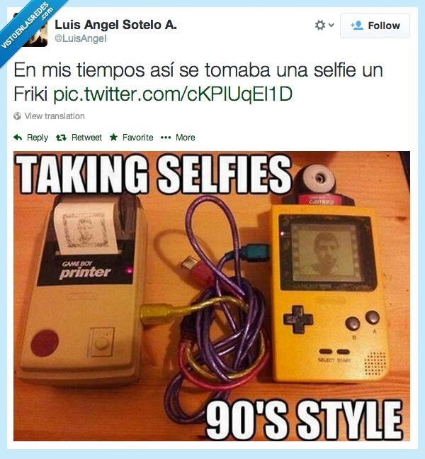90,boy,foto,Friki,game,game boy,gameboy camera,gameboy printer,imprimir,Selfie
