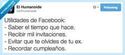 Enlace a Las utilidades de Facebook por @ElHumanoide