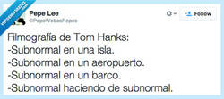 Enlace a Tom Hanks, mi preferido por @pepewebosrepes