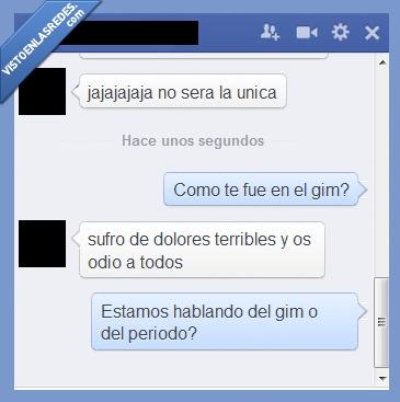 Chat,Facebook,Gimnasio,Menstruación,Mujeres,Periodo
