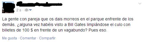Bill Gates,billetes,dinero,morreo,parque,pobre,vagabundo