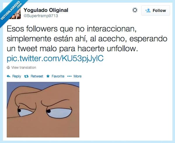 acecho,dejar de seguir,los simpson,perro,seguidores,tweet malo,twitter