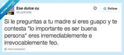 Enlace a Eres feo, no hay más por @Luzifonte