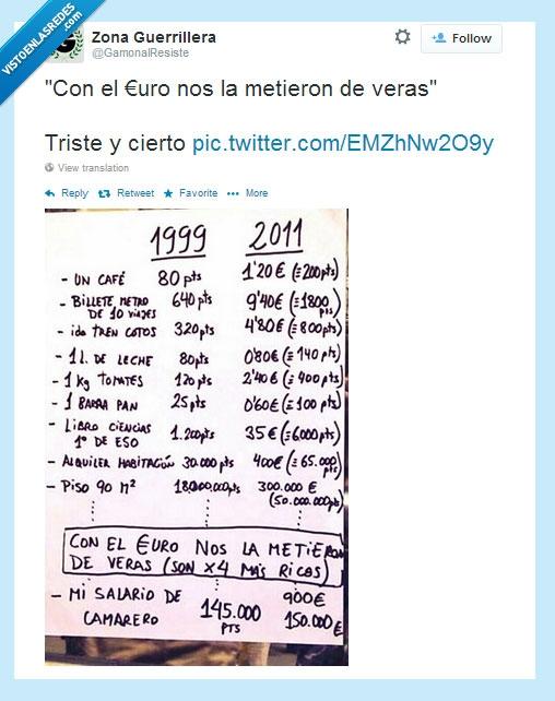 1999,2011,cambio,dinero,euro,pesetas,precio