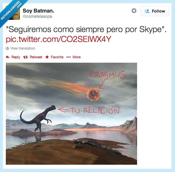 aniquilacion,arrasar,destruccion,dinosaurio,Erasmus,meteorito,muerte,twitter