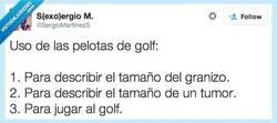 Enlace a Usos de las pelotas de golf por @SergioMartinezS