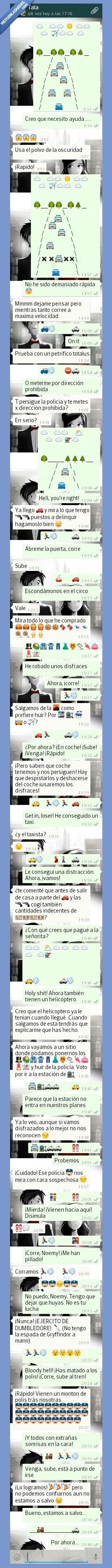 coche,emoji,emoticono,hermana,huida,policia,tren,whatsapp