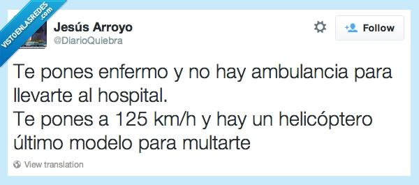 ambulancia,enfermo,helicoptero,hospital,llevar,modelo,multar,ultimo,velocidad