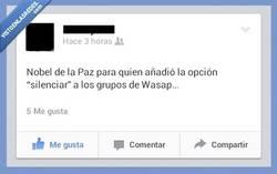 Enlace a Mas de uno ya hubiera dejado todos los grupos si no hubiera silenciador...