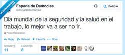 Enlace a Lo más seguro es que no vaya por @espadadamocles