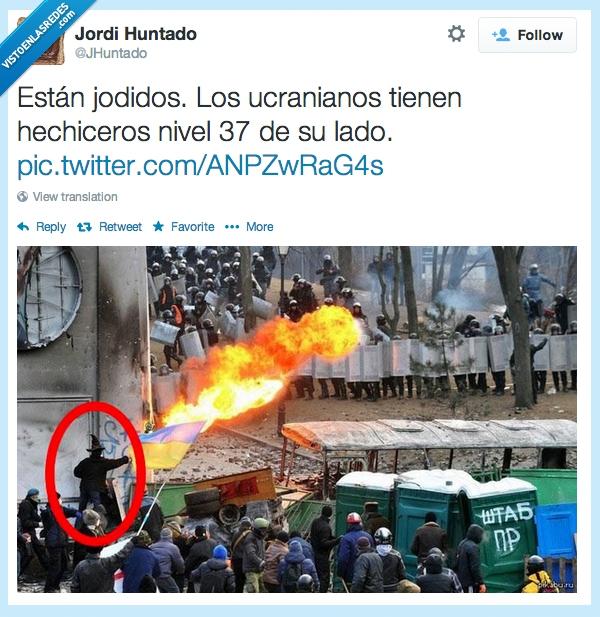 hechicero,nivel,protestantes,rebelión,ucrania