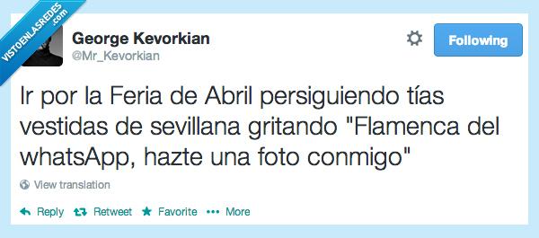abril,emoticono,feria,feria de abril,flamenca,foto,perseguir,tias,vestidas,whatsapp