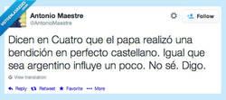 Enlace a ¡ES UN MILAGRO! ¡El Papa lo ha vuelto a hacer! por @AntonioMaestre