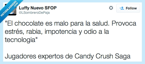 Candy Crush Saga,Chocolate,impotencia,odio,rabia,tecnologia