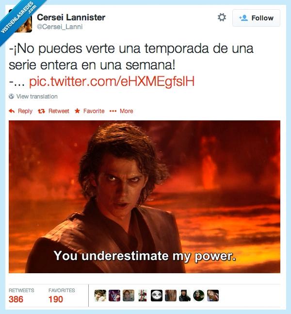 Anakin,la guerra de las galaxias,Poder,Semana,Series,Star Wars,temporada,ver