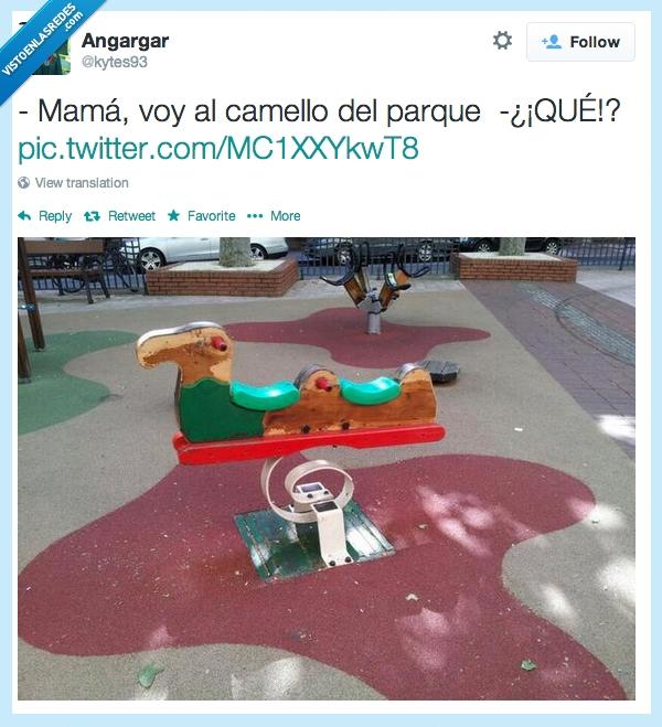 asustar,camello,kytes93,madre,parque,Twitter