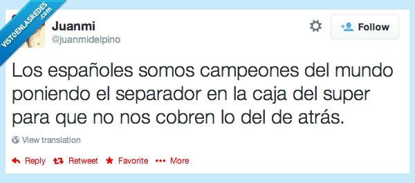 caja,campeon,cobrar,cobren,español,mundo,poner,premio,separador,super