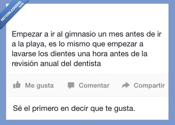 antes,cepillar,cuerpo,dentista,dientes,gimnasio,ir,mes,playa,revision,verano