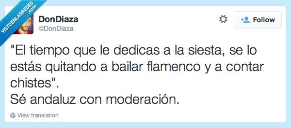 andalucia,andaluz,chistes,contar,dedicas,flamenco,moderacion,siesta,tiempo