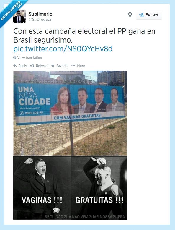 Brasil,ganar,gratuitas,Mayoría Absoluta,Política,PP,Twitter