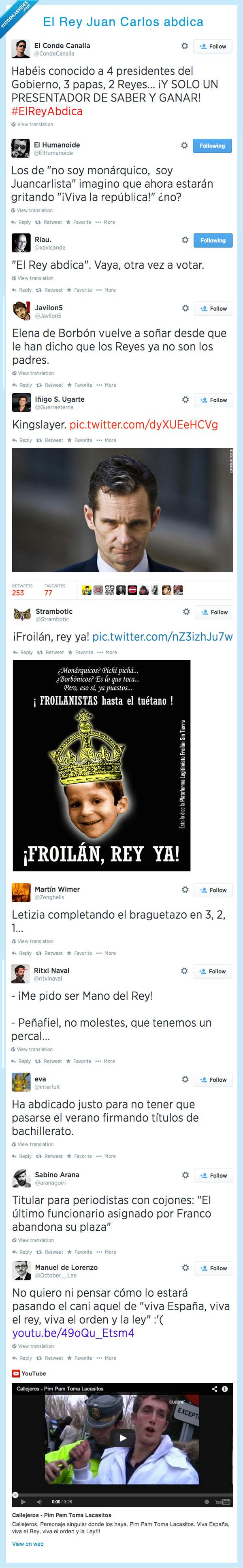 388094 - Se comenta por Twitter que el Rey Juan Carlos ha abdicado