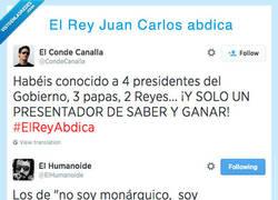 Enlace a Se comenta por Twitter que el Rey Juan Carlos ha abdicado