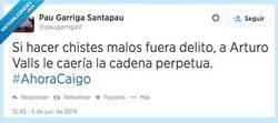 Enlace a Es que no se puede ser más malo haciendo chistes... por @paugarrigaV