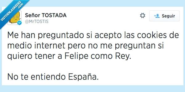 Abdicar,Cookies,Felipe,internet,referendum,Rey