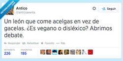 Enlace a A lo mejor come huevo, ahí ya no es vegano por @anticuarenta