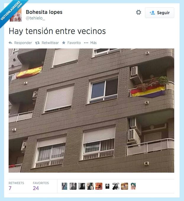 balcon,bandera,bloque,españa,pisos,republica