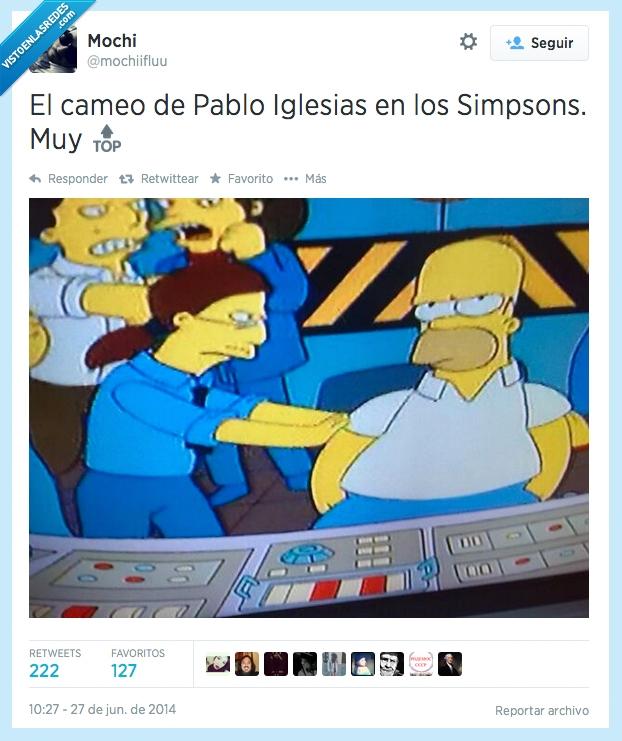 cameo,Homer,Los Simpson,Pablo Iglesias,Podemos,tio
