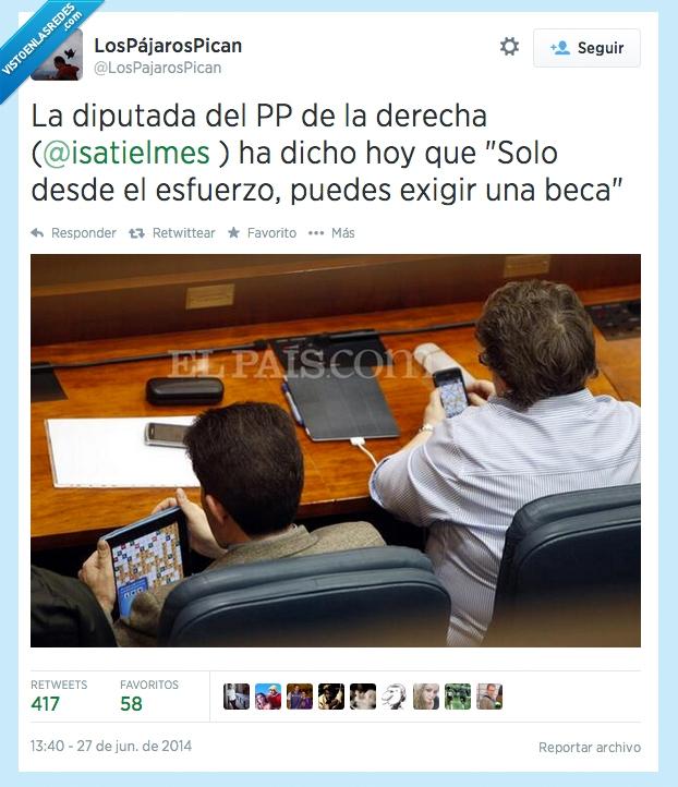 beca,becas,esfuerzo,Isabel Redondo,movil,pedir,PP