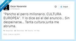 Enlace a Cultura europea, sí señor por @navaguay