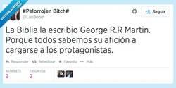 Enlace a George R.R Martin siempre tan despiadado... por @LauBoom