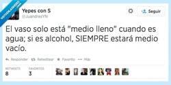 Enlace a Las cosas claras, el vaso lleno por @JuandresYN