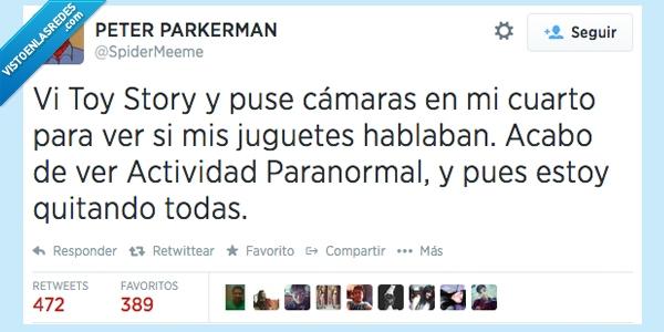 Actividad,Cámaras,Juguetes,miedo,Paranormal,Toy Story,Twitter