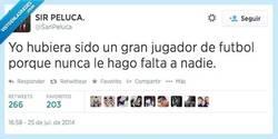 Enlace a Sería un gran futbolista por @SanPeluca