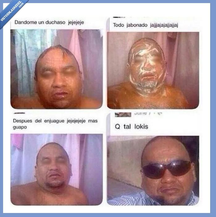 ducha,enjabonado,enjuague,gafas,lavar,se ama mucho a sí mismo,selfies