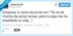 Enlace a Graduado en Excusas por la Universidad de la vida por @modernicidio