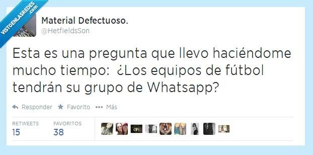 392474 - ¿Cómo se llamará el grupo de Whatsapp del Real Madrid? ¿Y el del Barça? por @HetfieldsSon