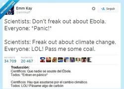 Enlace a La raza humana resumida en un tuit por @emmkaff