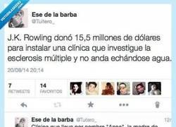 Enlace a Sin agua ni na', Rowling va a lo loco por la vida por @Tuitero_