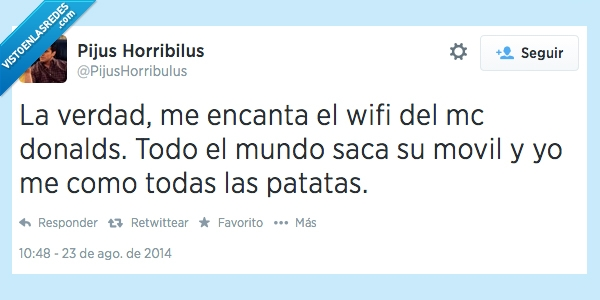 comer,mcdonalds,patatas,robar,sacar,smartphones,twitter,wifi