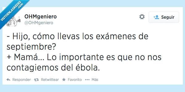ébola,estudiantes,estudiar,exámenes,ingeniería,ingenieros,salud,septiembre