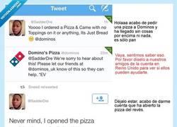 Enlace a Vaya timo de pizza... Espera un momento...