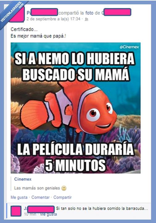 barracuda,comer,final,madre,matar,Nemo,pelicula,Sensibilidad