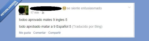 aprobar,bing,español,Facebook,ingles,traductor