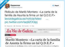 Enlace a Necesitamos recoger firmas para que Mariló Montero se haga Twitter