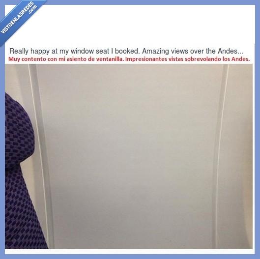 Andes,asiento,avión,fail,nada,pared,ventanilla,ver,vistas