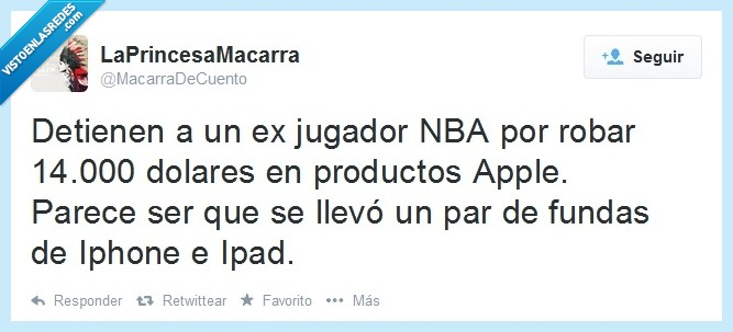 Apple,caro,como te pasas,fundas,Ipad,Iphone,jugador,noticia,robar